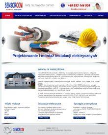 strona www Sensorcom - automatyka przemysłowa
