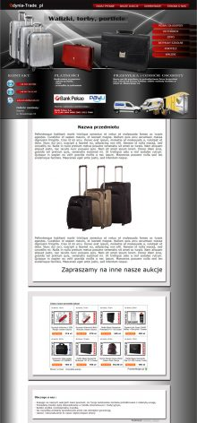 szablon Allegro - walizki, torby i portfele