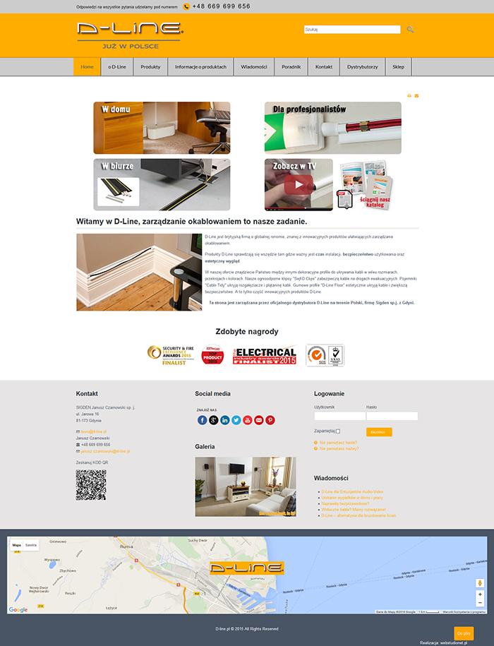 strona www d-line