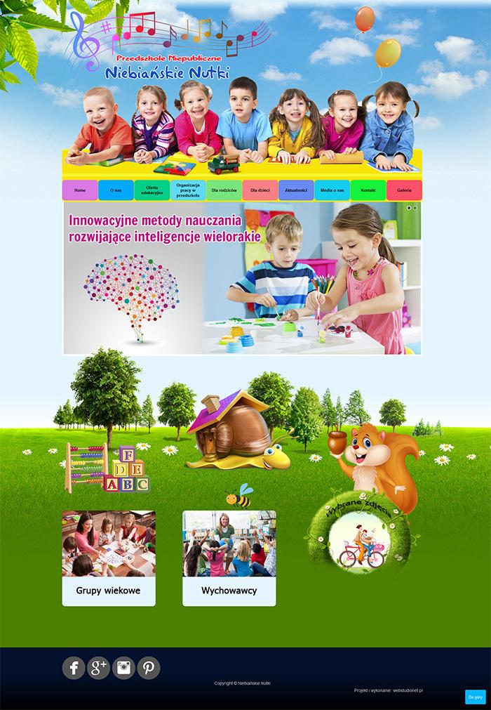 Strona www Niebiańskie Nutki
