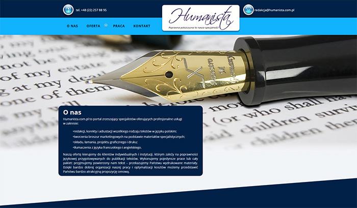 Strona www Humanista