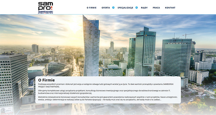 Strona www Sampro