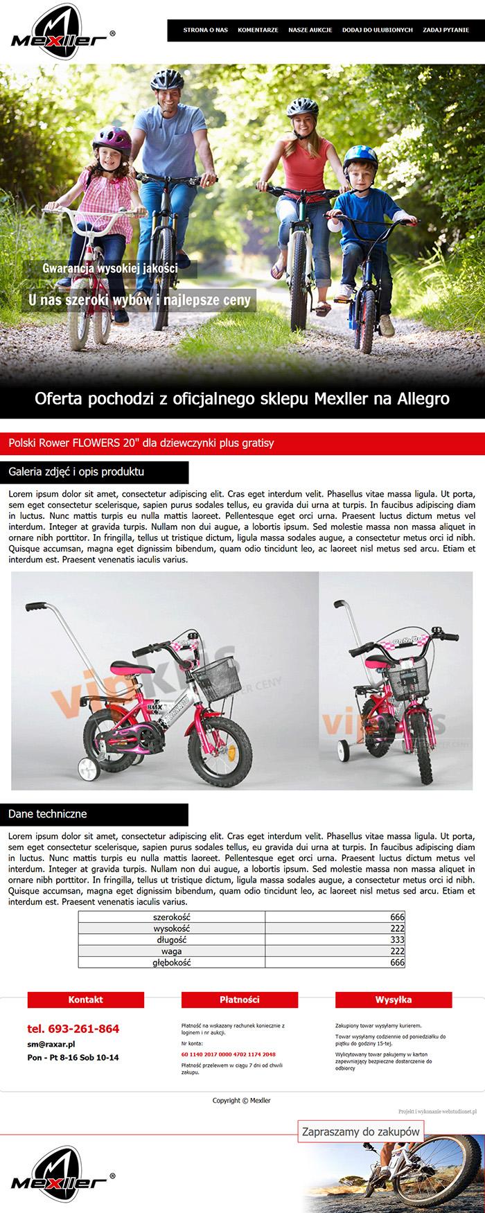Mexler szablon Allegro